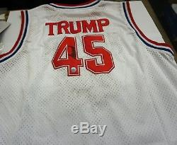 Président Donald Trump Signée À La Main Basketball Jersey Avec Coa Extrêmement Rare