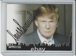 Président Donald Trump The Apprentice Trading Card Signé Dt2 Certifié Auto