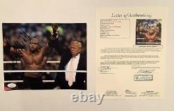Président Donald Trump Wwe Signé 8x10 Potus 2020 America Jsa