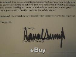 Président Lettre Originale Donald Trump, Signé Par Donald Trump, Très Rare