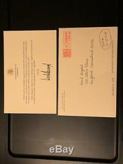 Président Rare Donald Trump Signé Lettre De Remerciement