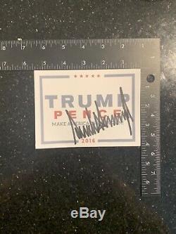 Président Trump Signé / Autographié 2016 Officiel Campagne Carte Index (4 X 5.5)