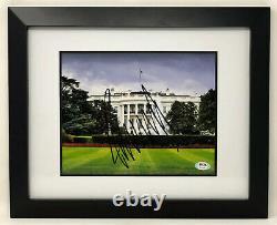 Psa / Adn 45e Président Américain Atout Signé Autographié Donald 8x10 Photo Historique