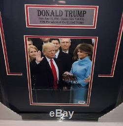 Psa / Adn 45e Président Atout Signé Autographié Donald Encadré Maison Blanche Photo