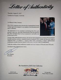 Psa / Adn 45ème Président Donald Trump Photo Autographiée Framed Autographiée