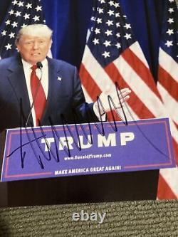 Psa Adn Donald Trump 8x10 Signé Autographe Président Photo