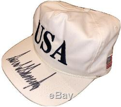 Psa / Adn Président Atout Signé Autographié Donald Make America De Nouveau Grand Chapeau