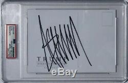 Psa / Adn Président Atout Signé Autographié Donald Make America Grande Carte Postale