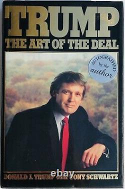 Psa / Dna Président Donald Trump Signé Autographié 1987 Art Of The Deal Book Rare
