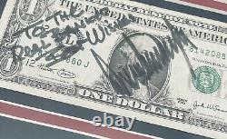 Psa/adn 45e Président Donald Trump Signé Autographied Framed $1 Bill Display
