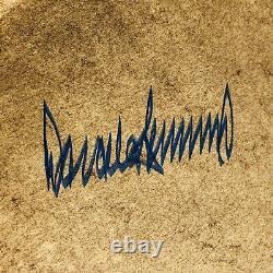 Psa/dna Le Président Américain Donald Trump A Dédicacé L'art Du Deal Book Première Édition