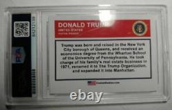 Psa/dna Président Donald Trump Autographié Carte À Collectionn Rookie Novelty/slabbed