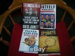 Quatre Nouveaux Livres Rares Signés Renard Politique Républicain Donald Trump Russie Hoax