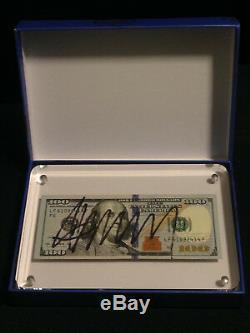 Rare Donald Trump $ 100 Cent Des Dollar Bill Slabbed Autographié Signé Signature