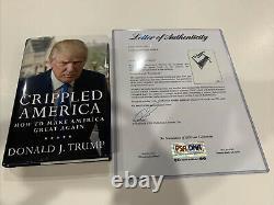 Rare Donald Trump Signé Autographié Crippled Amérique Couverture Rigide Livre Psa/dna Coa