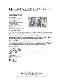 Rare Président Donald Trump Potus Signé Auto $100 Dollar Bill Unc Psa
