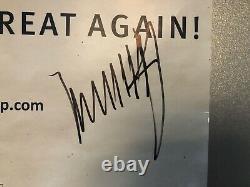 Rare Président Donald Trump Signé / Autographié 2016 Affiche De Campagne Navires Gratuits