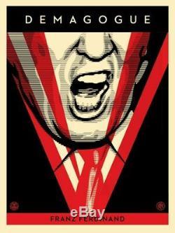 Rare Shepard Fairey Obey Signé / Numéroté Donald Trump Demagogue Écran Imprimer