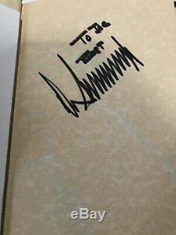 Rare, Signe & 1ère Édition Signature Complète Président Donald Trump Art De La Remontée