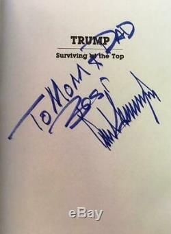 Rare, Signé À Parents Famille Atout Survivre Au Donald Top Président Autograph