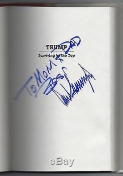 Rare, Signé Aux Parents Famille Donald Trump Survivant Au Top Président Autograph