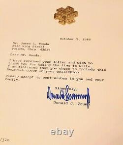 Rare Signé Donald Trump Newsweek Couverture Du Magazine. Signé À La Main Full Autograph