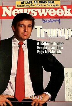 Rare Signé Donald Trump Newsweek Magazine Cover. Autographe Complet Signé À La Main