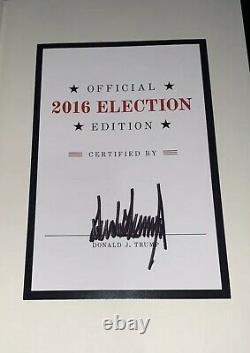 Rare Signé Président Donald Trump Book Art Deal 2016 Certified Election Edition