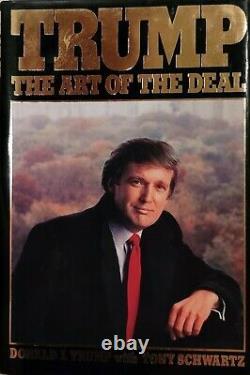 Rare Signed Président Donald Trump L'art Du Deal 1987 Edition 80's Maga