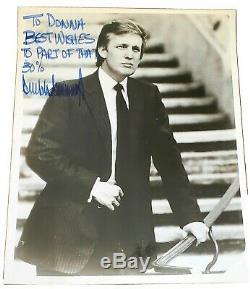 Rare Trump Président Donald 1980 Signée À La Main 8x10 Photo Dédicacée Maga