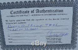 Rare, Vintage 8 X 10 Encadré, Art De La Citation Deal, Donald Trump A Signé Avec Coa