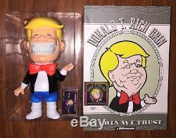 Ron Anglais X Mind Style Donald T. Rich Grin Black Light Signé Sdcc 2017 Trump