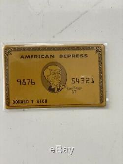 Ron English Signe Grin Donald T. Rich Gold Edition Trump Nouveau Avec Carte Et Boîte
