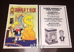 Sdcc 2017 Ron Anglais Signé Donald T. Rich Print Propaganda Trump America Great