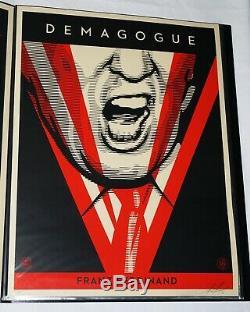 Shepard Fairey A Signé Franz Ferdinand Demagogue Atout Art Poster Donald Imprimer