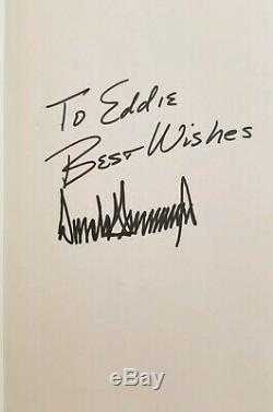 Signé À Eddie 1er Modifier Autograph Président Atout Donald Comme Billionaire Pensez