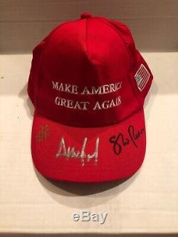 Signé Autograph Maga Hat Donald Trump Ivanka Et Mike Pence