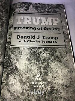 Signé Autographié Préféré #142 Donald Trump Survie Top President Autograph