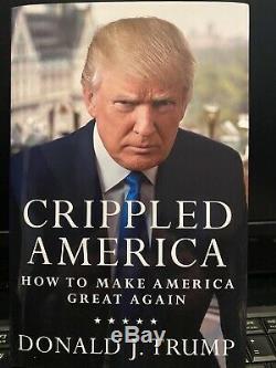 Signé Avec Coa, Crippled Amérique, Authentique Autograph President Donald J. Trump