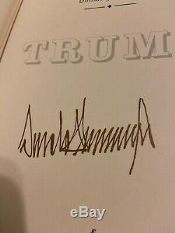 Signe Coa Limitee Easton Press Comment Obtenir Riche Par Le Président Donald J. Trump
