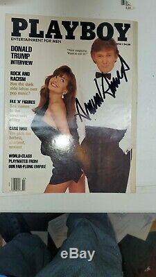 Signé Donald Trump Autographié Playboy Magazine Mars 1990, Avec Téléphone Camnera