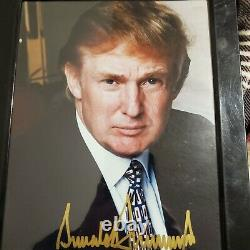 Signé Donald Trump Avec L'or Authentique Real Autographié Photo Pas Une Reprint