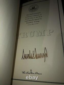 Signé Donald Trump First Edition 2004 Easton Press, Autographed How To Get Rich