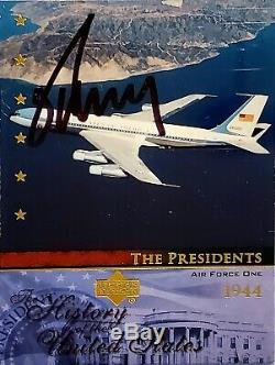 Signe Donald Trump Main Authentique Signée Président Sports Card Monnaie Maga