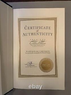 Signé Donald Trumps Crippled America Livre #9063