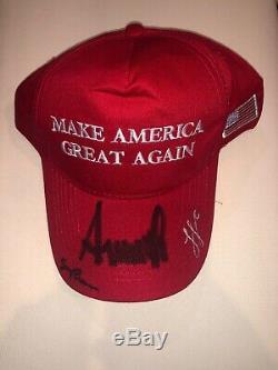 Signé Ivanka Trump Donald Trump Président Et Mike Pence Vp Maga Hat