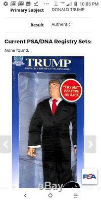Signé Le Président Donald Trump Autograph 12 Poupée Parlante Psa / Adn Coa