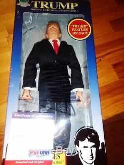 Signé Le Président Donald Trump Autograph Poupée Parlante Psa / Adn Coa