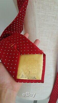 Signé Le Président Donald Trump Signiture Collection Cravate En Soie Rouge Cravate Autographié