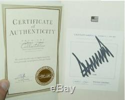Signé Le Président Numéroté Et Numéroté, Donald Trump W, L'invalide De L'amérique, Un Grand Succès